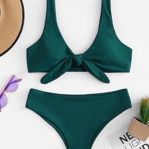 Other - NEW Knot Front Top With Panty Bikini Set